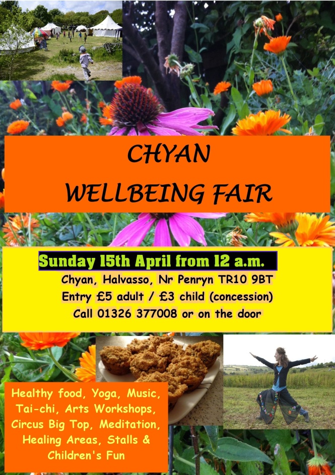 Chyan Wellbeing Fair Sunday April 15th 2018