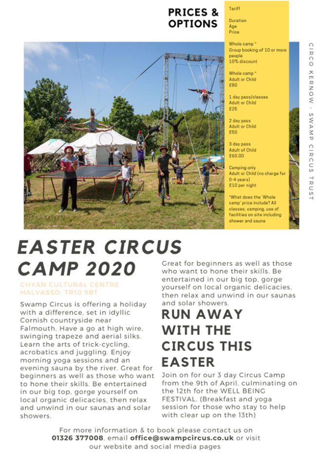 Eater Circus Camp flyer 2020